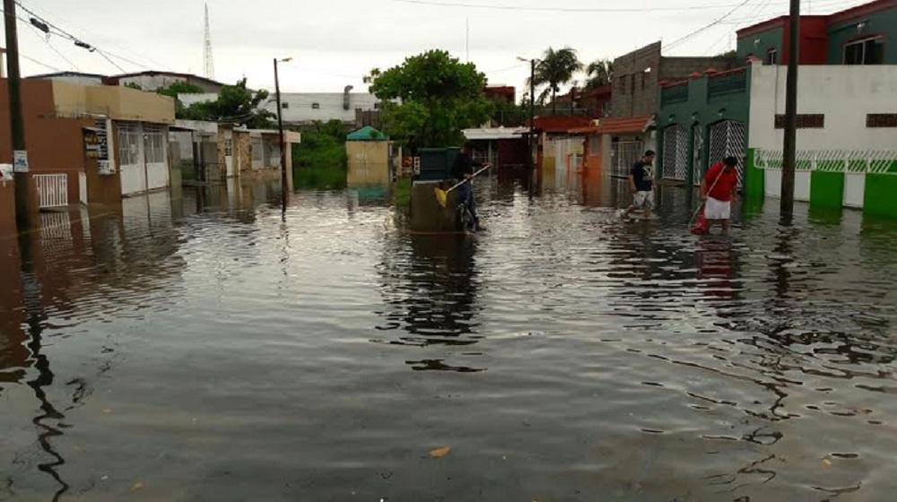 Se registran inundaciones en el fraccionamiento Floresta de Veracruz