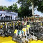 Sedena destruye armas largas y cortas, incautadas a la delincuencia organizada en Veracruz, Puebla y Tlaxcala