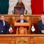 El gobernador Yunes toma protesta a Guillermo Moreno Chazzarini como secretario de Finanzas y a Ramón Tomás Alfonso Figuerola Piñera como Contralor General del Estado