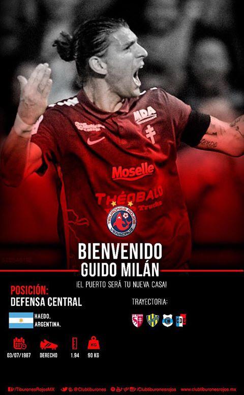 Tiburones Rojos de Veracruz contrata a Guido Milán