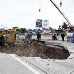 Se suspende cuatro días el tránsito de vehículos de carga por reparaciones en el Paso Exprés
