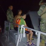 Rescató  Armada de  México a tres personas a la deriva en la Isla Sacrificios
