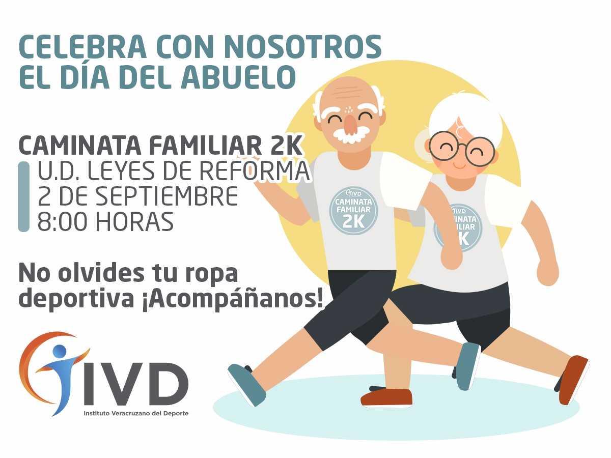 """Festejará IVD """"Día del Abuelo""""  con Caminata Recreativa"""