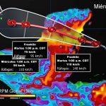 La madrugada de este jueves podría impactar la tormenta tropical Franklin en Veracruz