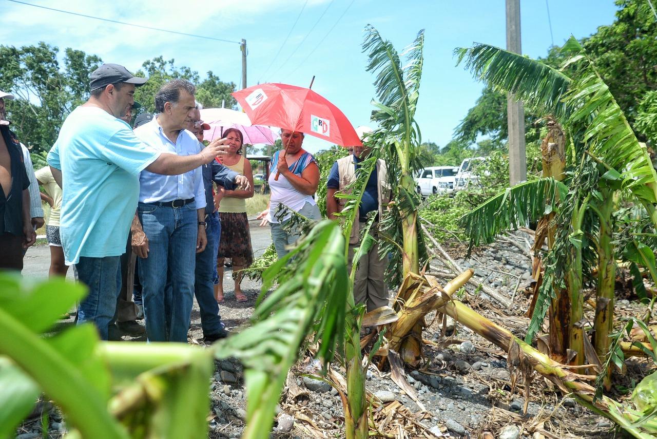 Garantizado el apoyo inmediato a damnificados por Franklin: Gobernador Yunes