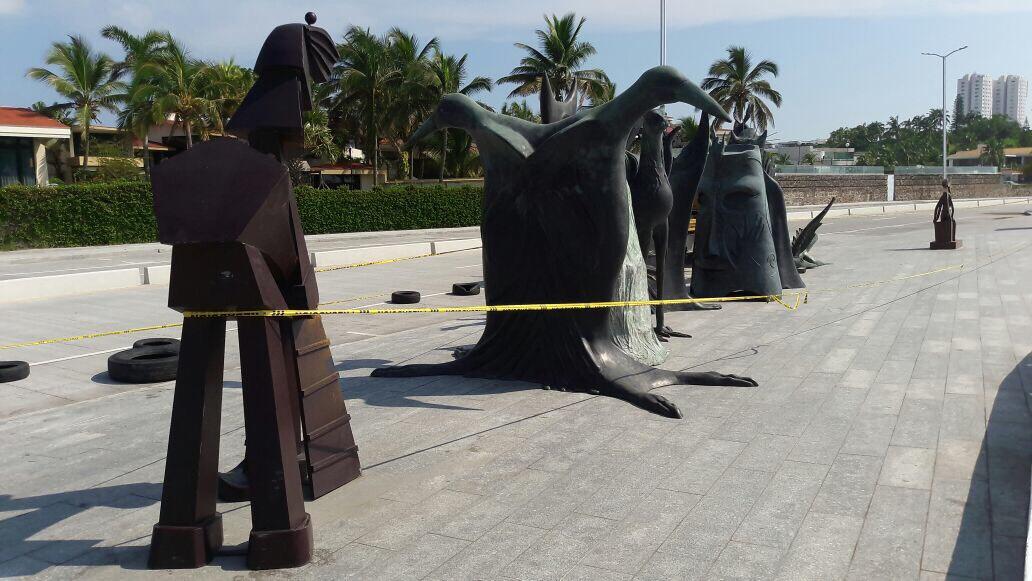 En Boca del Río retiran esculturas de Leonora Carrington; llegan piezas de José Luis Cuevas