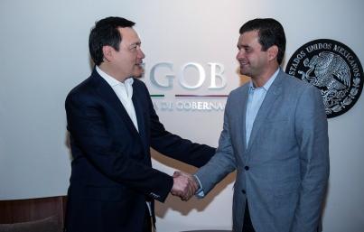 Osorio Chong reitera a Echevarría apoyo para habitantes de Nayarit