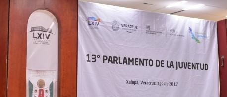 Inician trabajos del Parlamento de la Juventud Veracruzana en el Palacio Legislativo