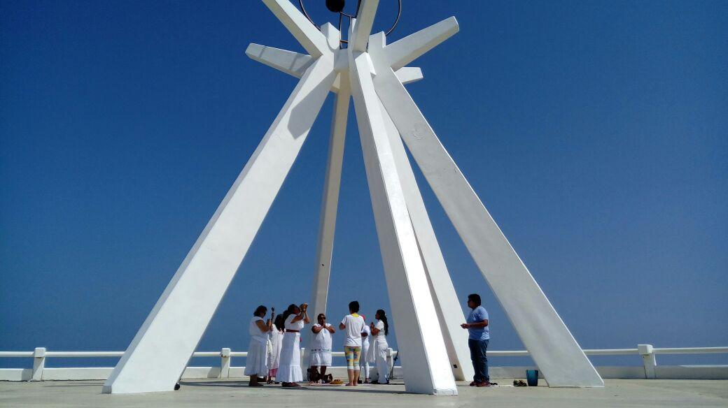 Con rituales dan la bienvenida al eclipse de sol en Coatzacoalcos