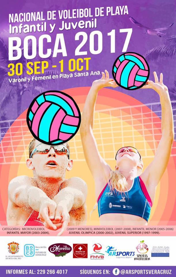 """Alistan Campeonato Nacional de Voleibol de Playa """"Boca 2017"""""""