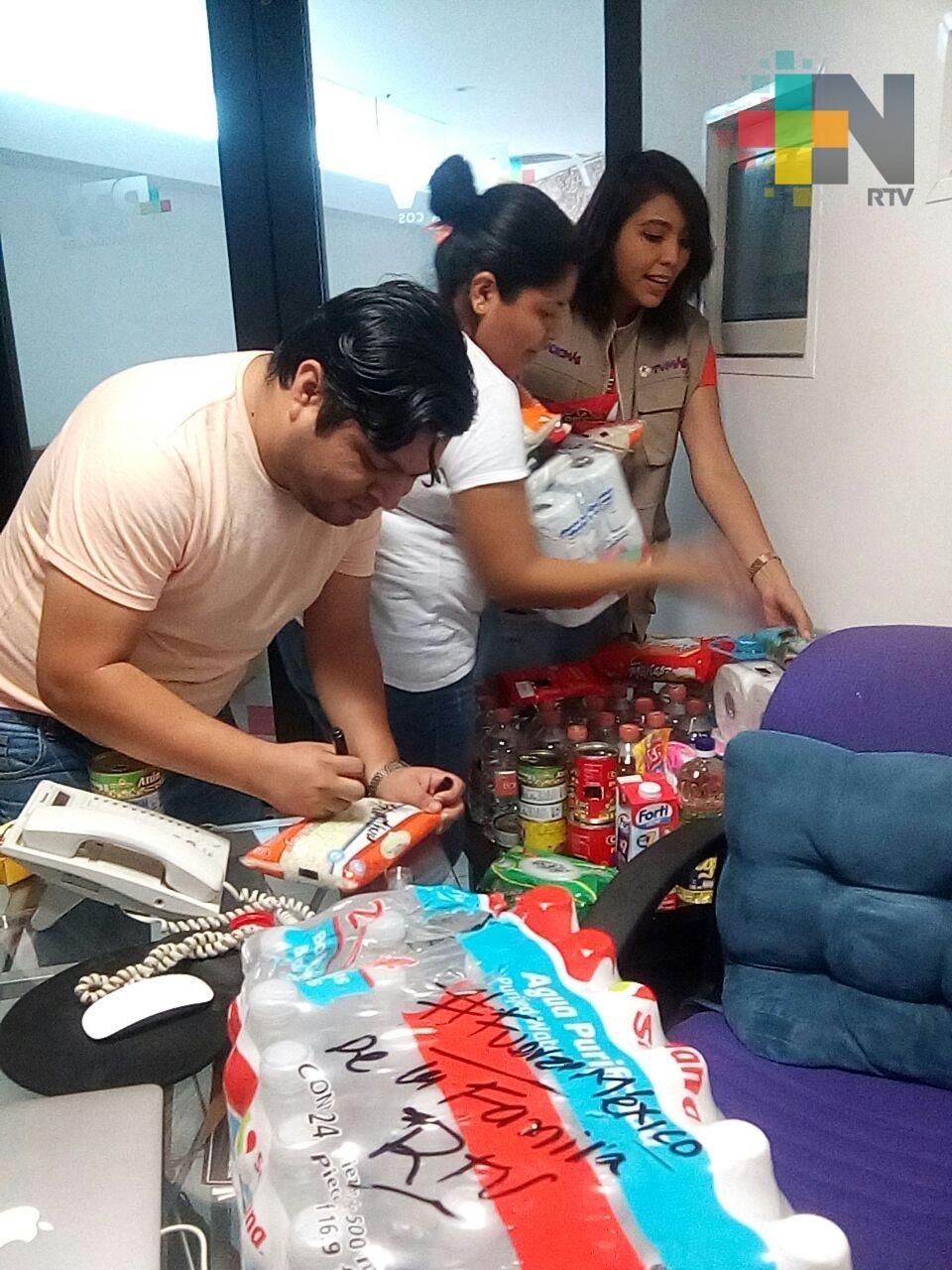 RTV Coatzacoalcos se une a la colecta de víveres para damnificados