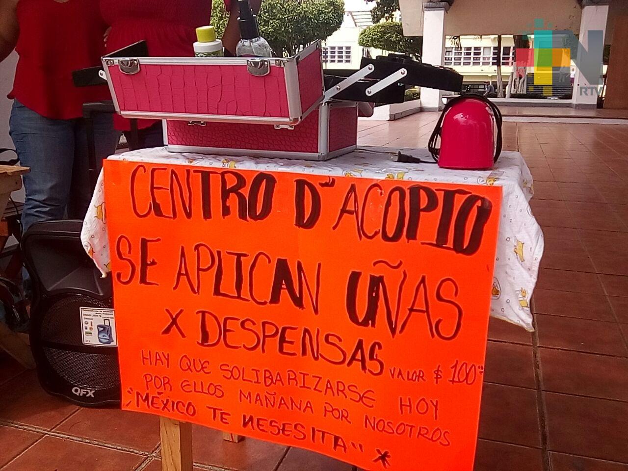 Estilistas de Coatzacoalcos darán servicio gratis a cambio de víveres para damnificados de sismos