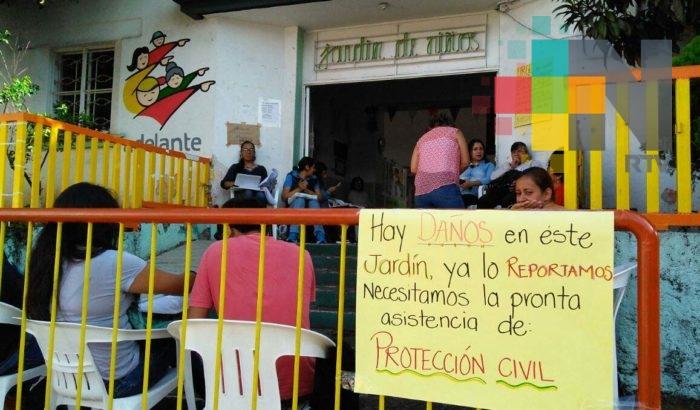 Daños de jardín de niños Enrique Pestalozzi no son graves: PC Xalapa