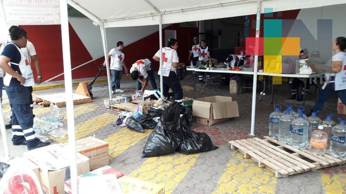 Enviará Cruz Roja Veracruz el segundo tráiler con víveres