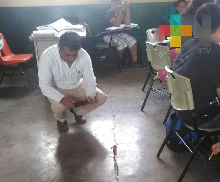 Inhabilitan cuatro aulas por estar dañadas en Tlapacoyan