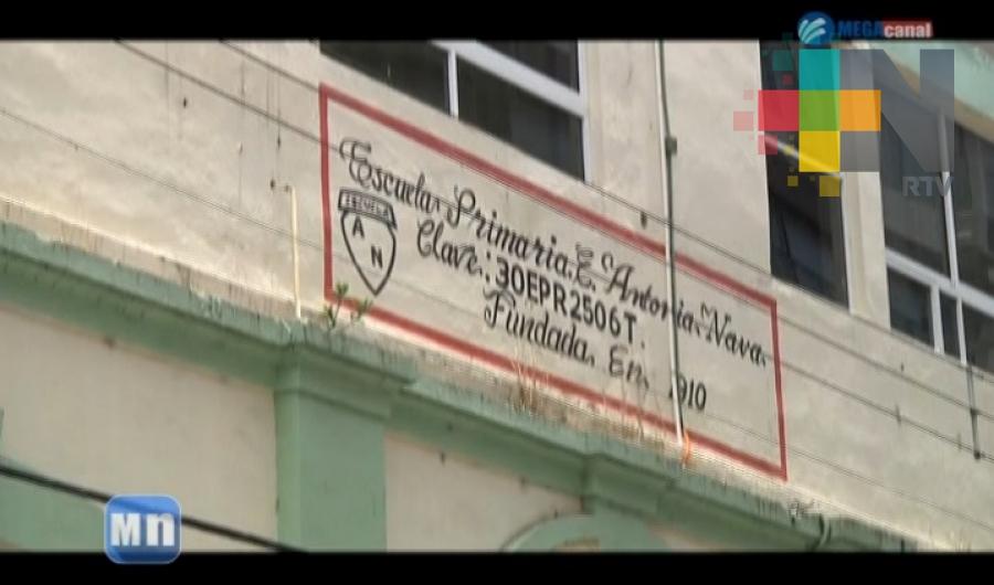 Exigirán peritaje de escuela primaria Miguel Lerdo de Tejada en Tuxpan