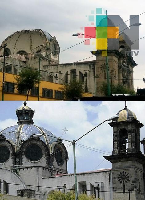 Colapsa cúpula de la iglesia de Nuestra Señora de los Ángeles en CDMX
