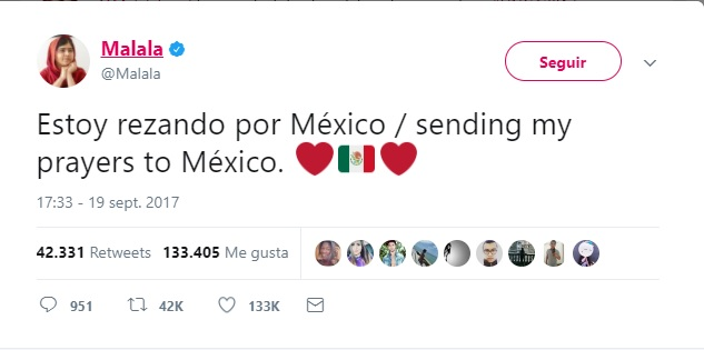 Celebridades comparten mensajes de apoyo para México