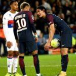 Reportan altercado de Neymar con delantero uruguayo del PSG