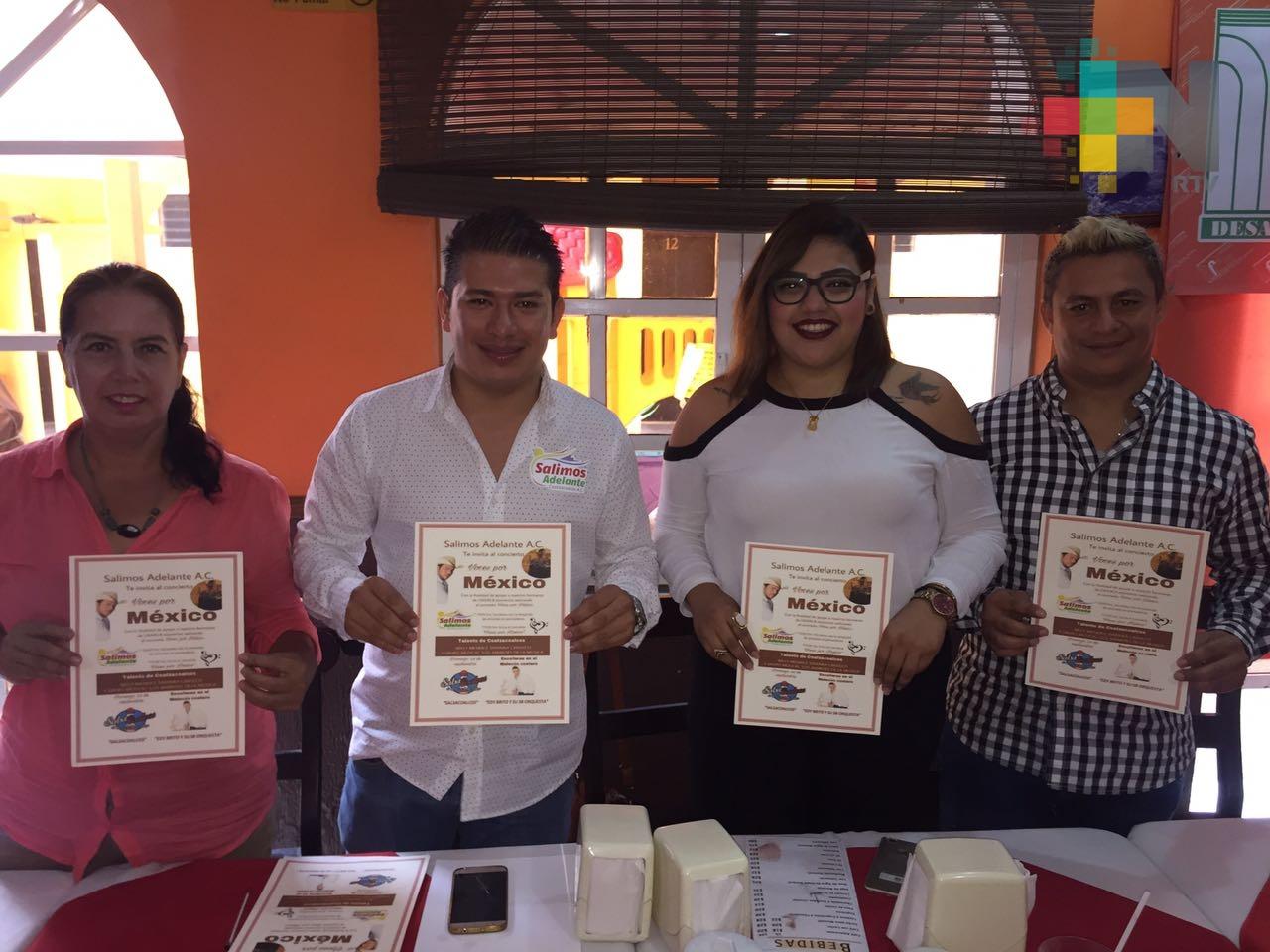 """En Coatzacoalcos organizan evento """"Voces por México"""" para apoyar a damnificados"""