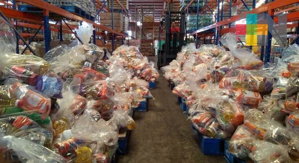 Distribuyen despensas para Veracruz, CDMX, Oaxaca, Chiapas, Guerrero y Morelos