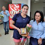 Reconoce IVD medalla mundial declavadista Dolores Hernández Monzón