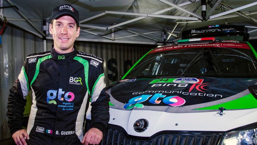 Piloto mexicano Benito Guerra obtiene podio en España en la WRC 2