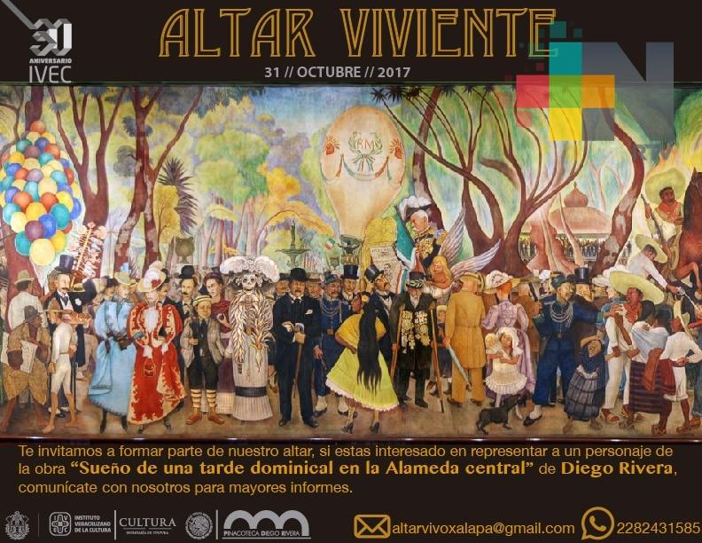 Invita IVEC a participar en el Altar Viviente basado en un mural de Diego Rivera