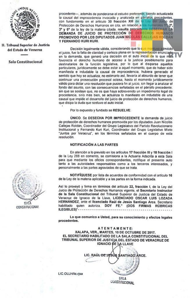 Desechan juicio contra permanencia de Sergio Hernández en la JUCOPO