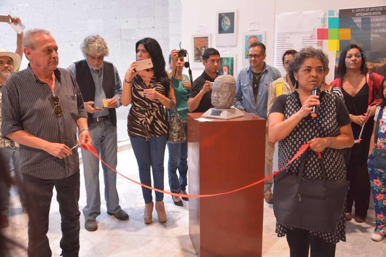 Abren artistas en el Congreso la subasta de obras para apoyar a damnificados