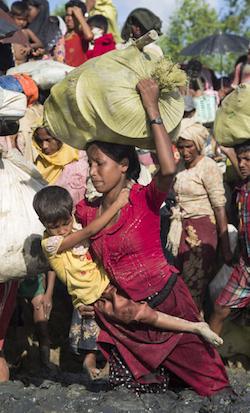 Salen 12 mil niños de Myanmar cada semana por violencia: Unicef