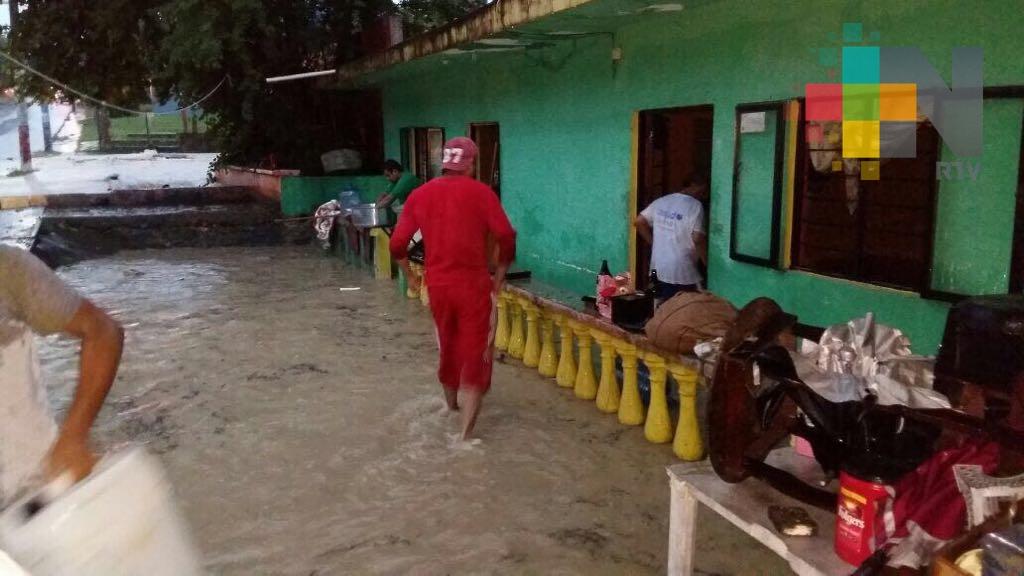 Lluvias afectan colonias y comunidades de Tantoyuca