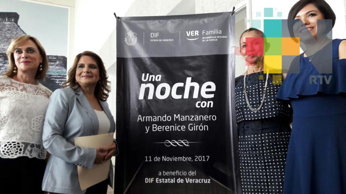 Invita DIF Estatal al concierto de Armando Manzanero en beneficio de las familias de la Sierra de Zongolica