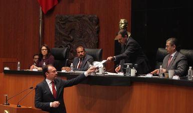 Videgaray entregó al Senado informe sobre la ayuda oficial internacional por sismos