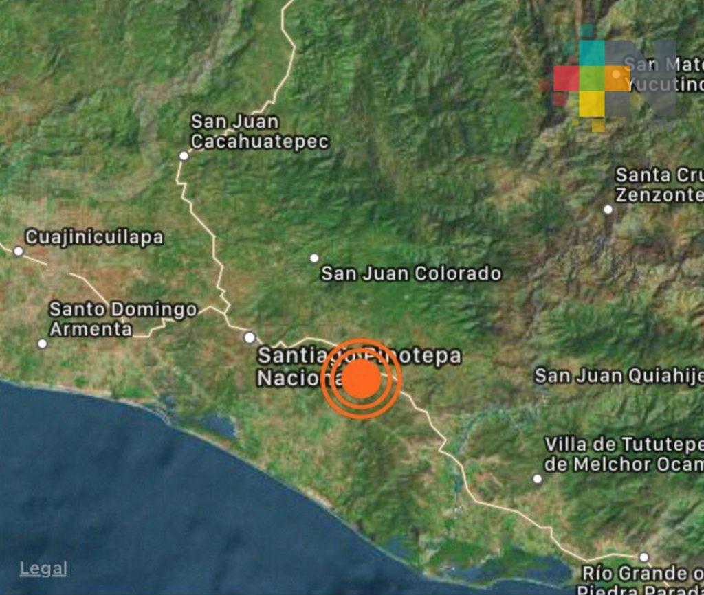 Sismo de magnitud 5.1 con epicentro en Oaxaca; no se reportan afectaciones
