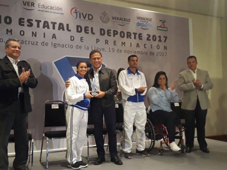 Complacida Viviana del Ángel con Premio Estatal del Deporte 2017