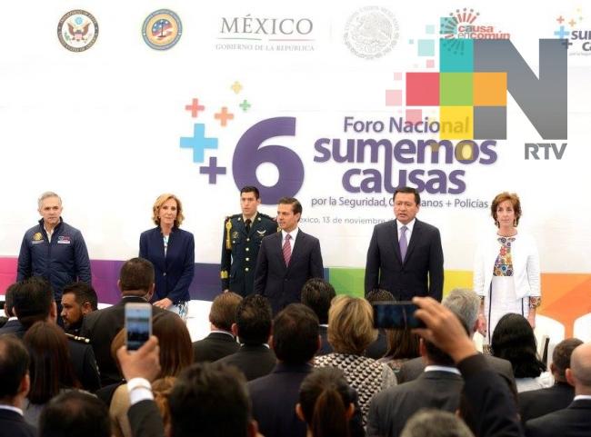 Peña Nieto llama a reconocer buen trabajo de instituciones de seguridad