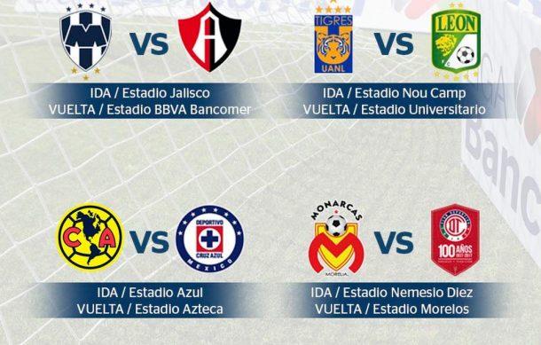 Definidas fechas y horarios de cuartos de final de la Liga MX