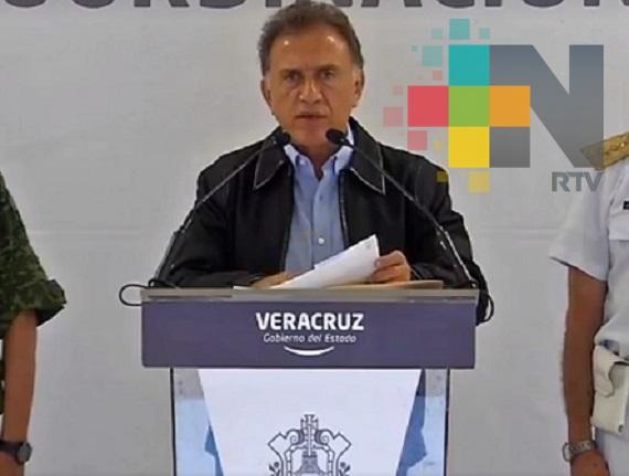 El Gobernador de Veracruz pone en marcha operativo especial en Coatzacoalcos