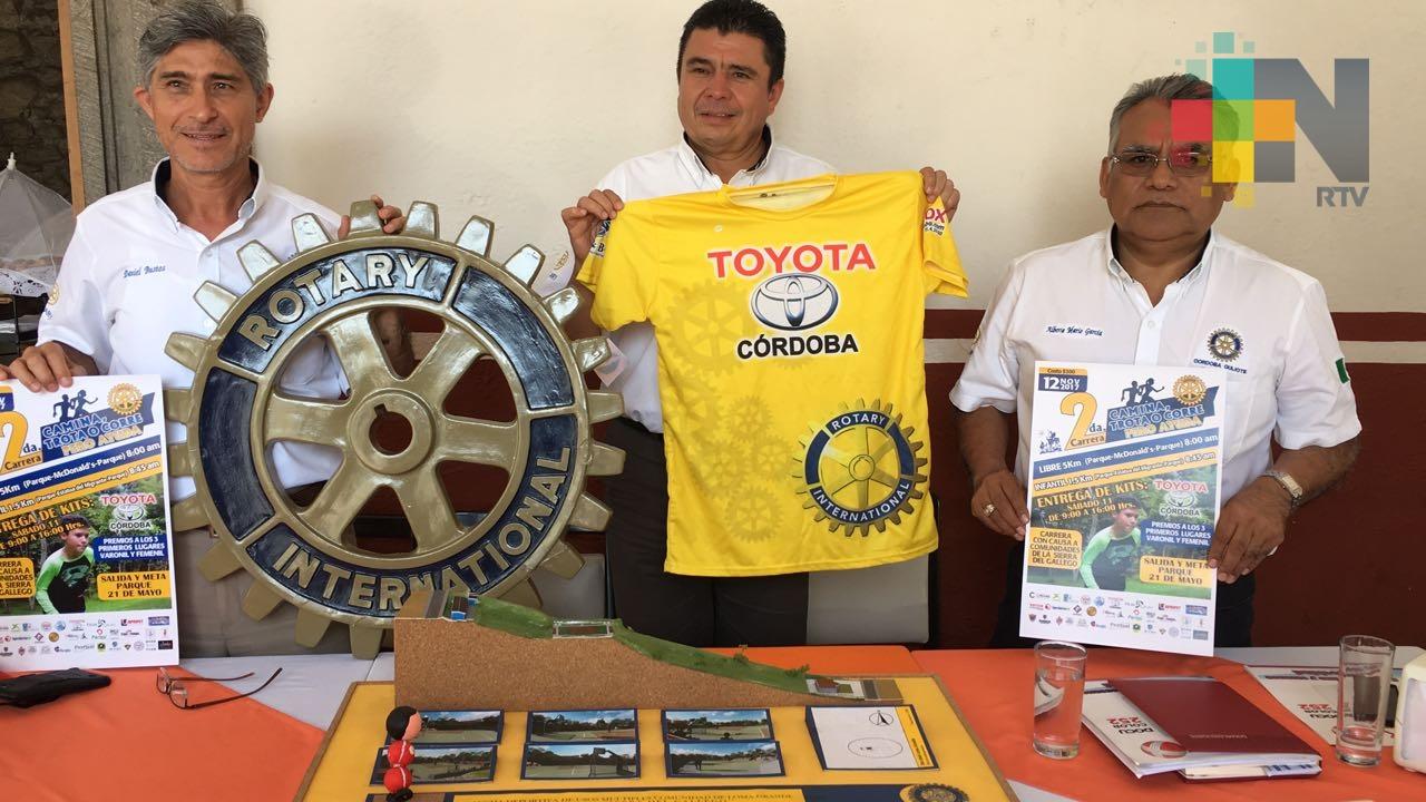 """Club Rotario Córdoba Quijote invita a la segunda carrera """"Camina, Trota o Corre pero ayuda"""""""