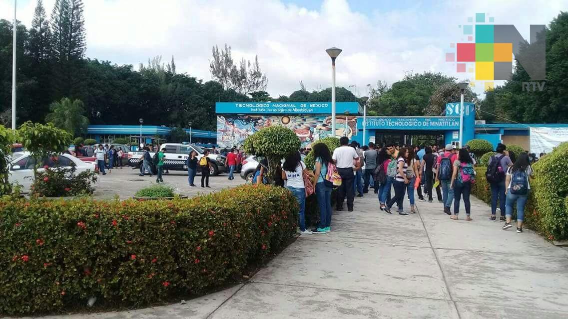 Amenaza de bomba en el Tecnológico de Minatitlán provoca desalojo