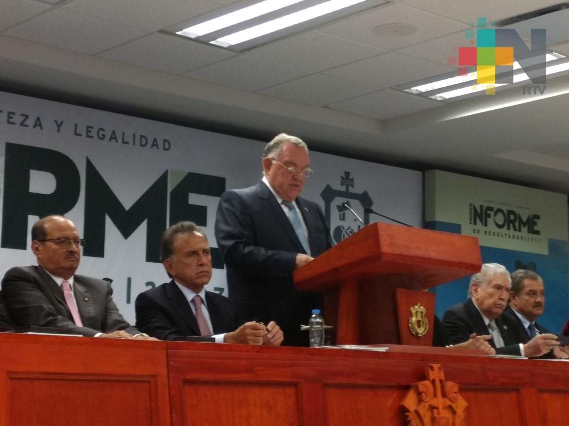 Presenta el presidente del TSJ de Veracruz su primer informe de labores