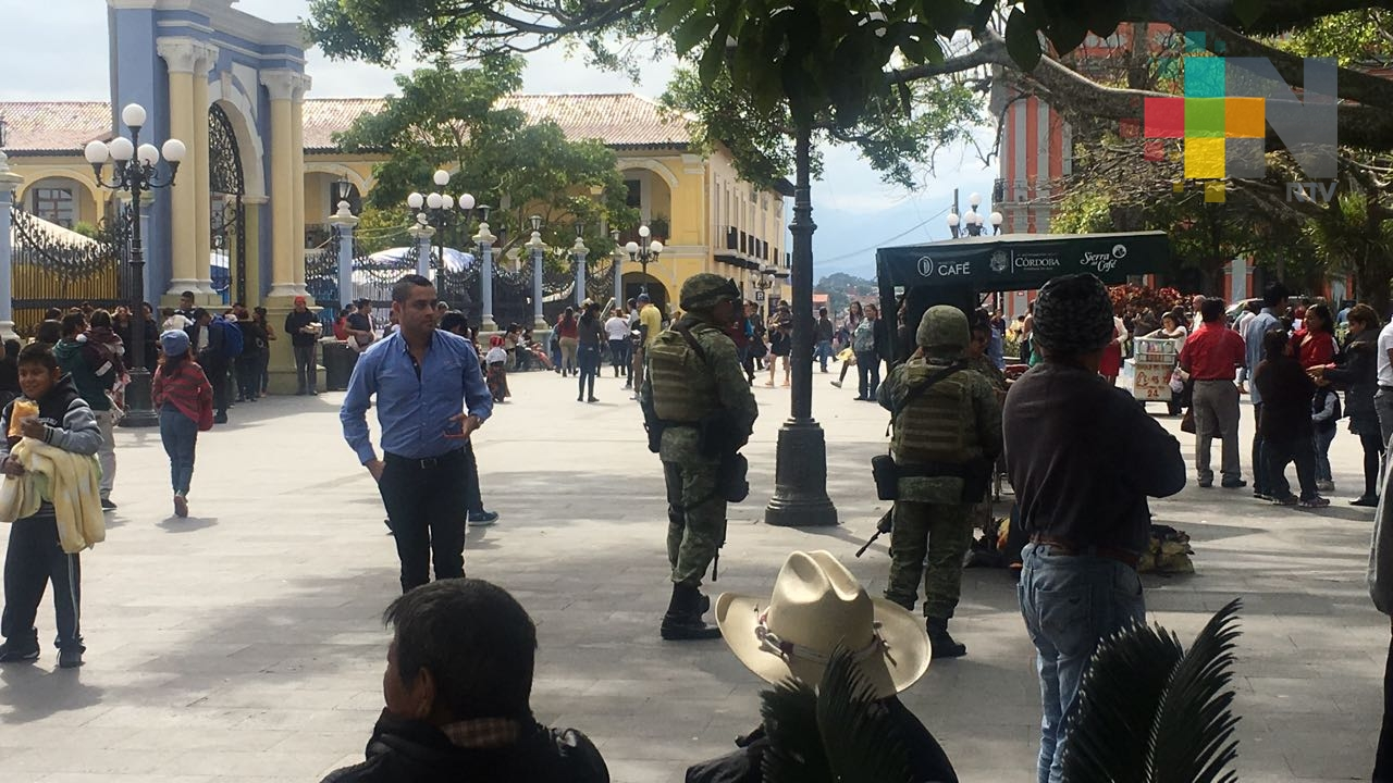Redobla presencia Policía Militar en Córdoba ante temporada de pago de aguinaldos