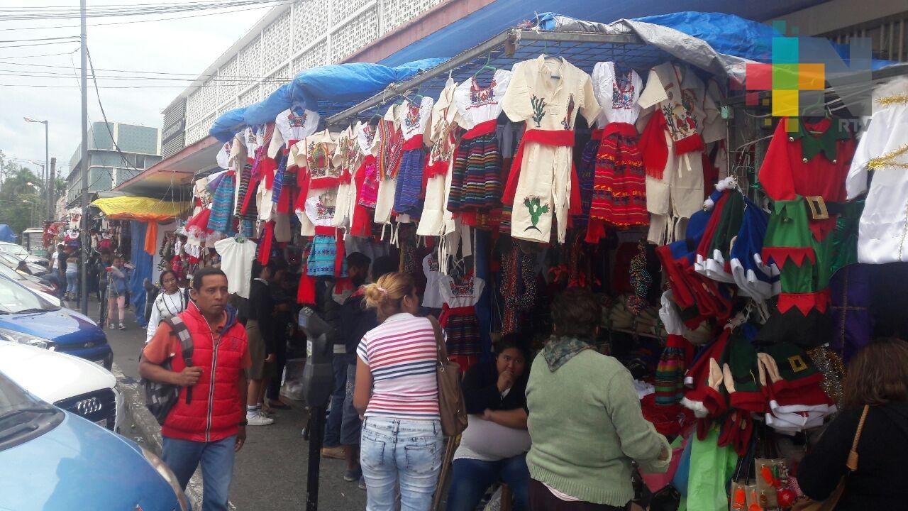 Comerciantes en Veracruz sin ventas esperadas por Día de la Virgen de Guadalupe