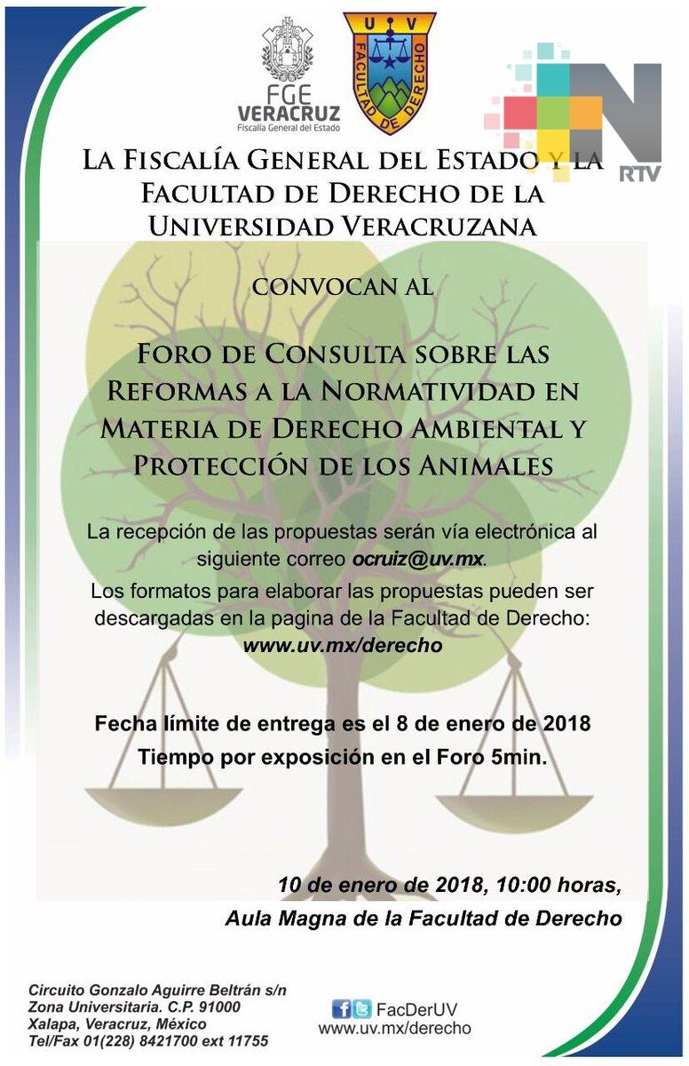 Organizan FGE y UV Foro de Consulta para reformar Normatividad en Materia de Derecho Ambiental y Protección de los Animales