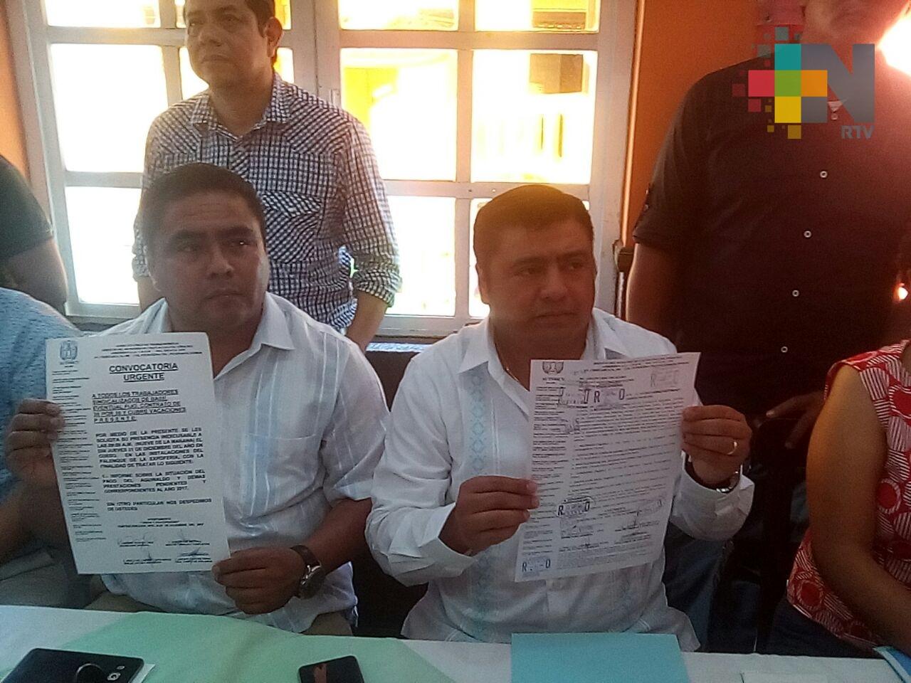 Dos emplazamientos a huelga para el ayuntamiento de Coatzacoalcos; por violentar condiciones laborales y revisión contractual