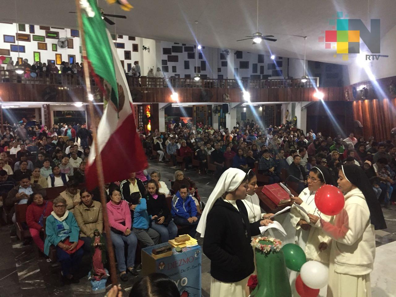 Celebran feligreses de Coatzacoalcos a la Virgen de Guadalupe