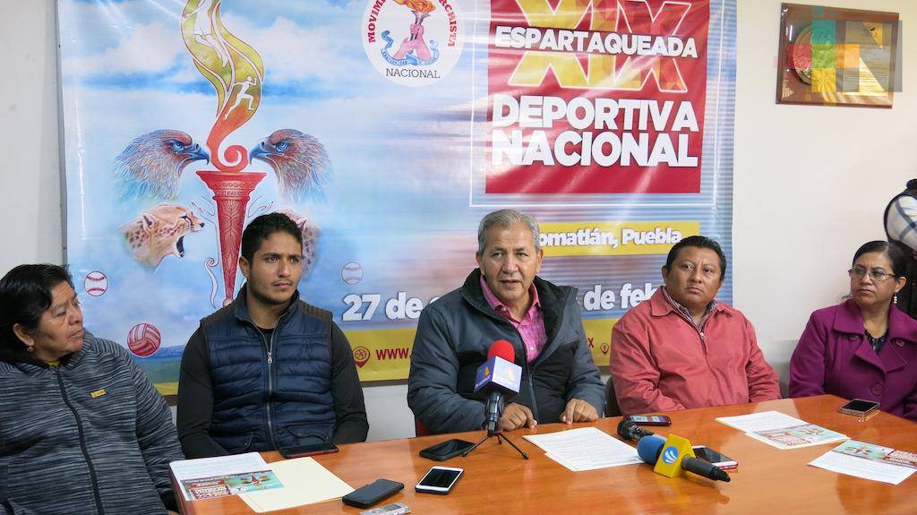 Anuncian la XIX Espartaqueada Nacional Deportiva, del 27 de enero al 4 de febrero