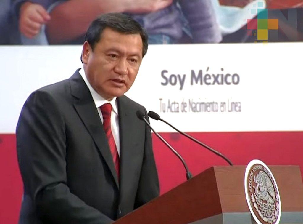 Miguel Ángel Osorio Chong renuncia a la Secretaría de Gobernación