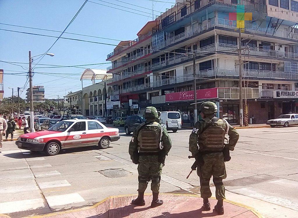 En Coatzacoalcos 60 policías militares se suman a las labores de seguridad